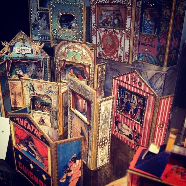 Miniature Toy Theatres at Pollock's Toy Shop in Covent Garden, London