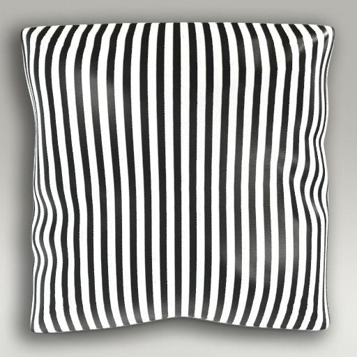 Poduszka pasy biało-czarne