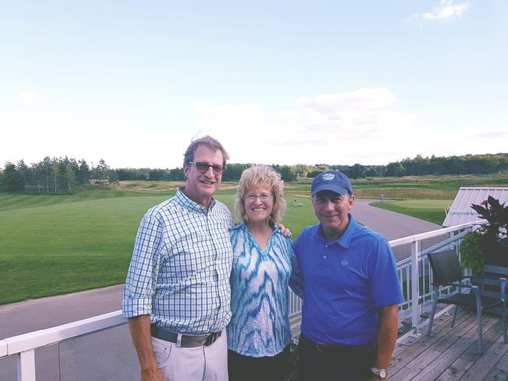 Rick, Susan, Doug Carrick, designer of Osprey Valley, King Valley, Greystone, Big Bay Lake Simcoe, Eagles Nest