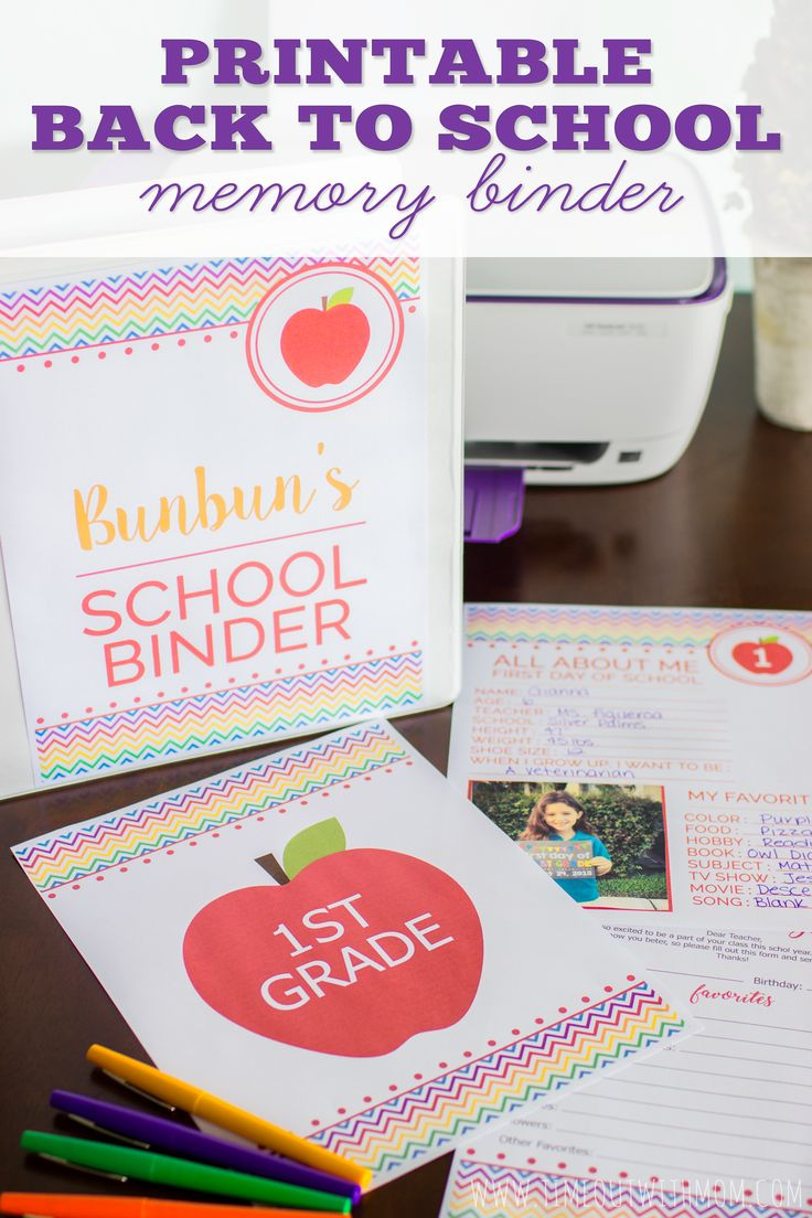 Preserve your child's school year memories with a Back to School Memory Binder. FREE Printables for Preschool - 12th Grade! #CreateWithHP #ad