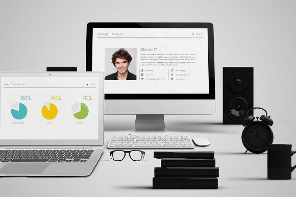 Personal CV Powerpoint Template by Ryanda on @creativemarket