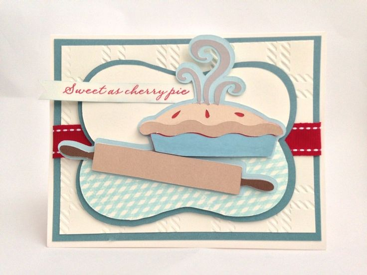 Courtney Lane Designs: Sweet as cherry pie card made using the From My Kitchen cartridge and the July stamp of the month.