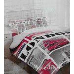 Londoni piros busz mintás ágyneműhuzat garnitúra