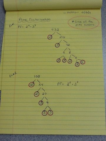 MATH: Divisibility Rules, Prime and Composite Numbers, and Prime Factorization « Welcome to the 7C IRLA Classroom Site!