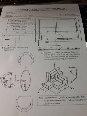 Bilgisayar Destekli Tasarım Final Soruları - İnşaat Mühendisliği