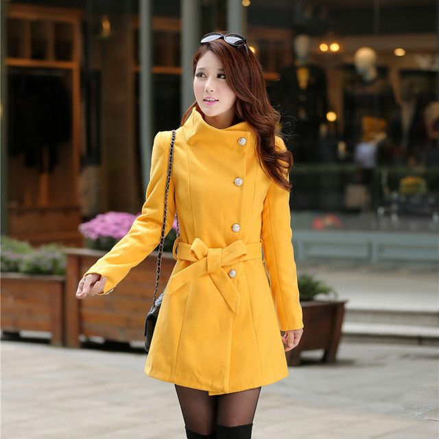 New Fashion Women Woolen Trench Coat Manteau Femme 2016 Autumn Warm Winter Long Slim Single Breasted Girls Coats Wool Blends
