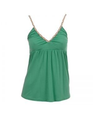 Πράσινο μπλουζάκι με πλεξούδα ραντάκι.