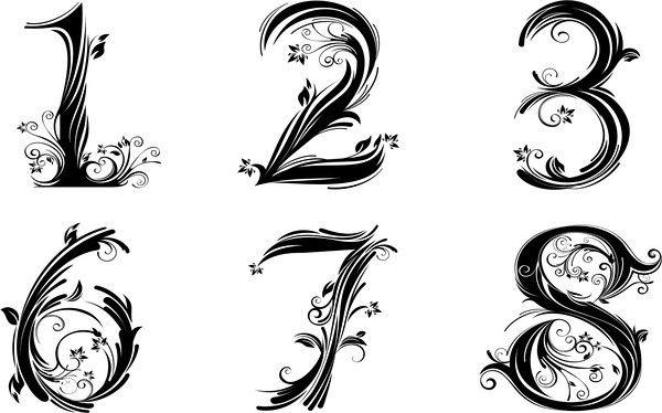 pretty number font | Tatoos | Number tattoo fonts, Tattoo ...