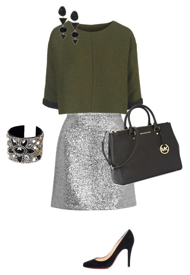 topshop, michael kors & louboutin by laylaren on Polyvore featuring Topshop, Christian Louboutin, Michael Kors and H&M