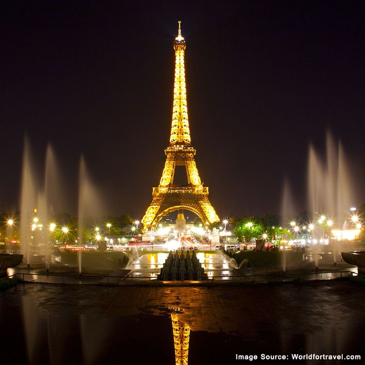 """The city of Paris looks stunning at night. No wonder, they say """"Paris is always a good idea!""""."""