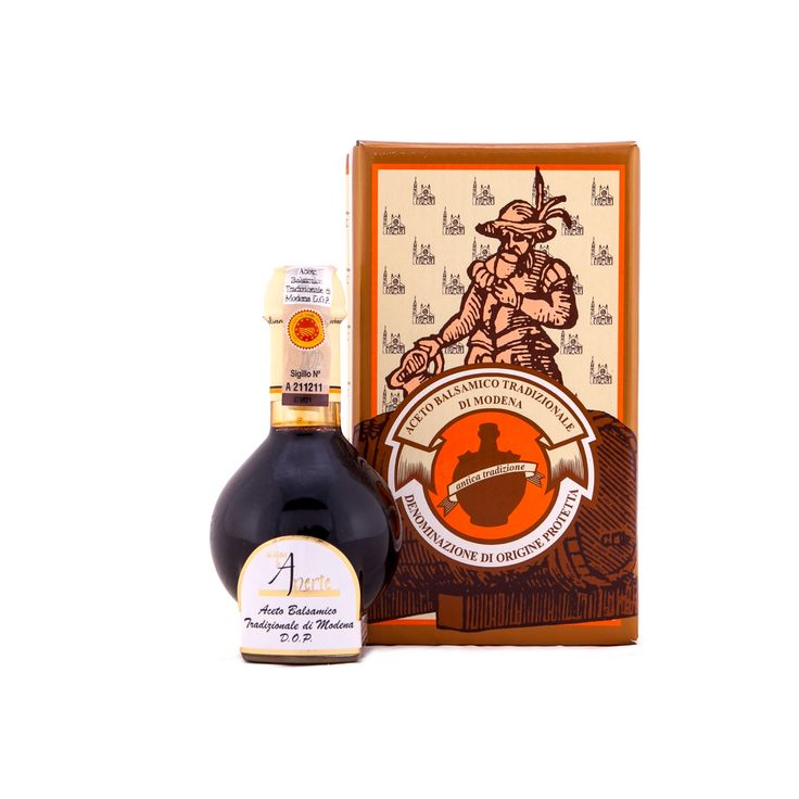 #Aceto #Balsamico #Tradizionale di #Modena #DOP #12 #anni #Acetaia #Le #Aperte. Di tradizionale sapore dolce e agro ben equilibrato, si offre generosamente pieno, sapido con sfumature vellutate in accordo con il caratteristico profumo complesso e fragrante.   Le fasi della maturazione e dell'affinamento in batterie di botti di legni diversi per questo aceto balsamico tradizionale dura 12 anni. Un #condimento dal colore bruno lucente, denso caratterizzato dalla caratteristica #sciropposità.