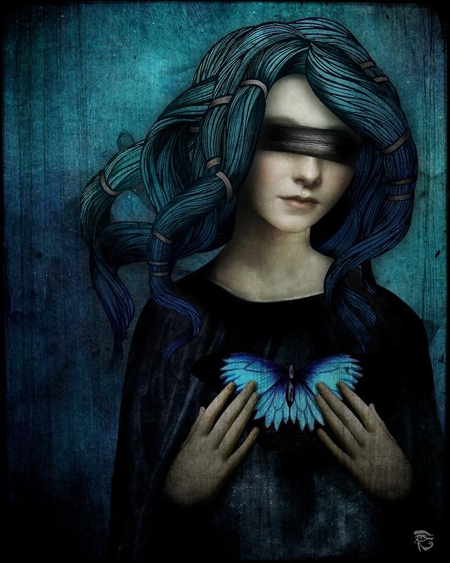 """Le farfalle non riescono a vedere le proprie ali. Non riescono a vedere quanto davvero sono belle. Anche le persone sono così. (da """"Glee"""") Illustrazione di Christian Schloe."""