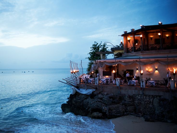 For the best ocean view in St. James, Barbados, nurse a vodka punch on the upper-floor bar of The Cliff.: Gourmet Food, Favorite Places, Cliff Bar, The Ocean, Cliff Restaurant, Barbados Cliff, Travel, Vodka Punch, Ocean View