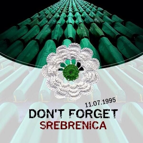 The pain from the blood soaked ground will never go away. Never Forget! #Srebrenica #Genocide