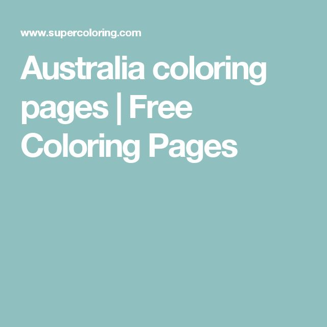 Australia coloring pages | Free Coloring Pages
