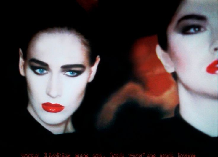 Iconic 80's look from Robert Palmer's Addicted to Love video - I remember vividly how much the makeup fascinated me as a child. the 80s wasn't all bad