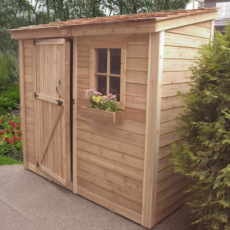 outdoor living today spacesaver 9 ft w x 5 ft d wood lean
