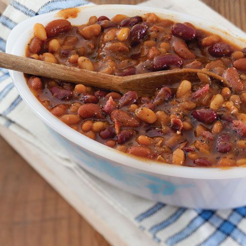 ... south | home recipes southern plate suppers slow cooked baked beans