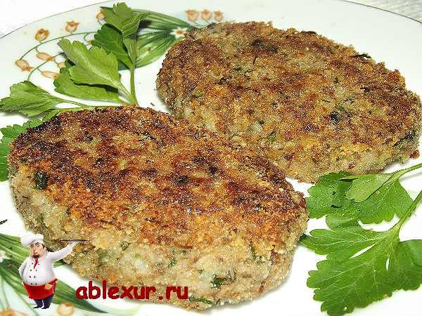 Buckwheat and mushroom cutlets/ recipe in Russian/Котлеты из гречки с грибами