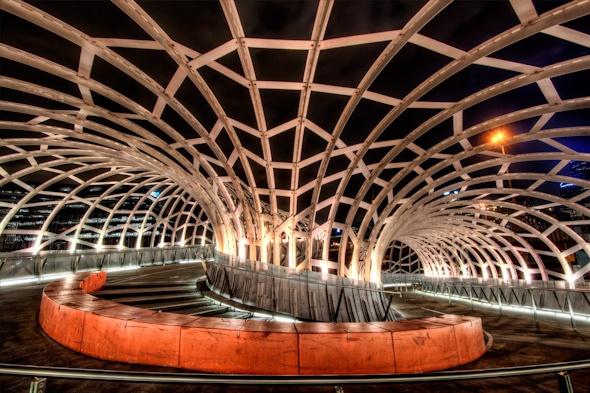 Australia Melbourne Webb Bridge HDR