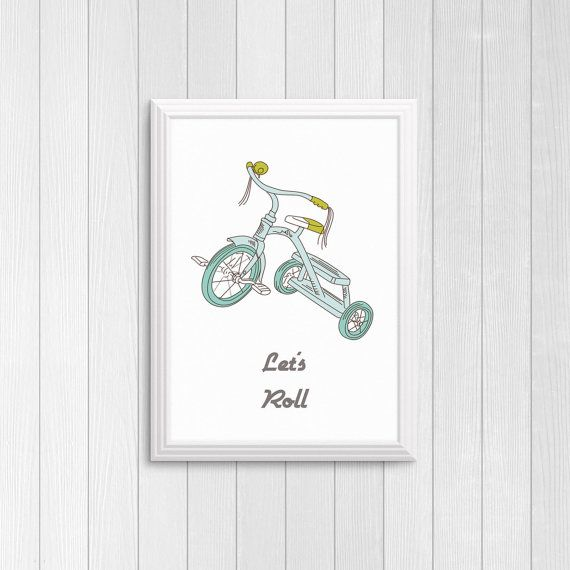Let's roll tricycle print DIY printable  Trike by Papierscharmants