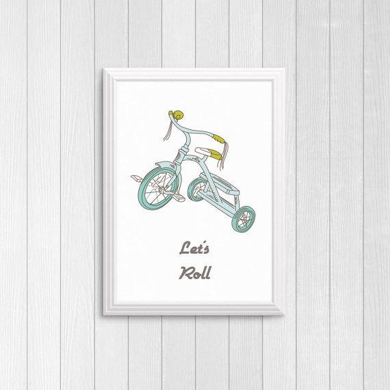 Let's roll tricycle print DIY printable  Trike by Papierscharmants