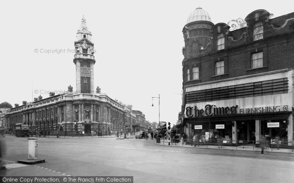 Brixton, Town Hall And Acre Lane c.1955, from Francis Frith