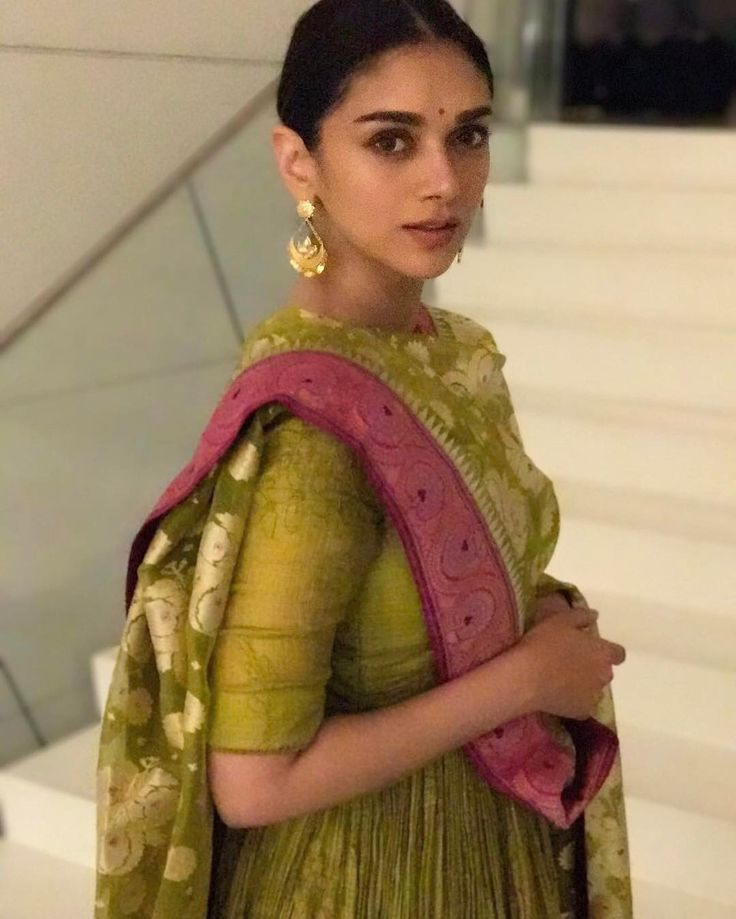 """31.3k Likes, 138 Comments - Aditi Rao Hydari (@aditiraohydari) on Instagram: """"Loved being with the tiny little #supersingerjunior 's  in chennai for #kaatruveliyidai promotions!…"""""""