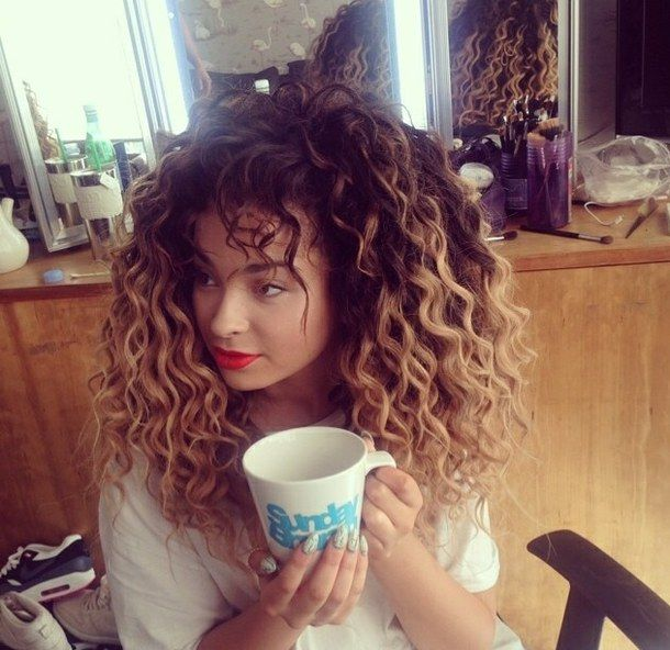 Terrific 1000 Ideas About Curly Hair Coloring On Pinterest Ombre Curly Hairstyles For Women Draintrainus