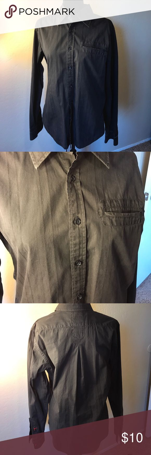 Men's Black Guess by Marciano Dress Shirt Vintage black Guess by Marciano men's Button Down dress shirt (long-sleeve). Made in India. Size Large. 100% Cotton, EUC. Guess by Marciano Shirts Dress Shirts