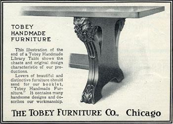Tobey Furniture Co, Chicago (Charles/Frank 1856 1954) (Thayer U0026