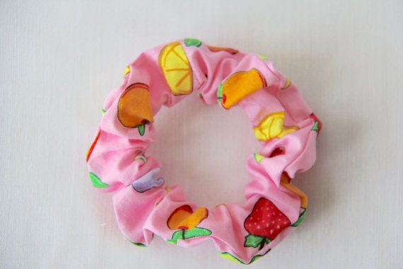 Pink Fruit Scrunchie, £3 each