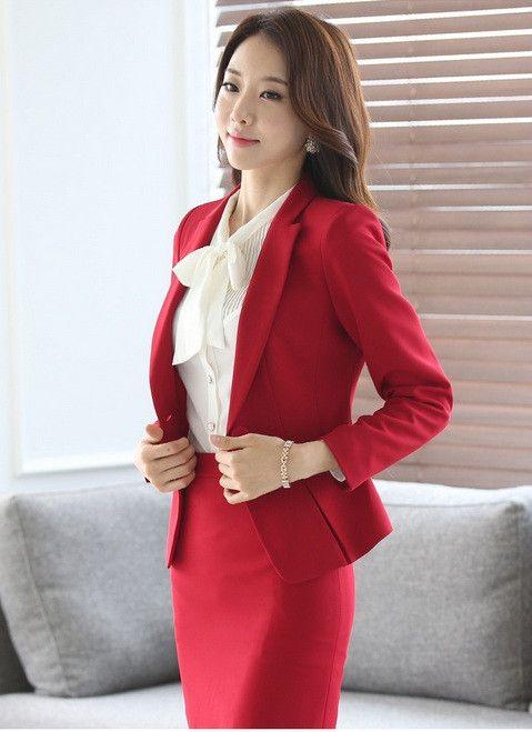 Formal Ladies Office Skirt Suit 2016 Office Uniform Designs Women Business Suits Elegant Skirts Suits Blazer With Skirt Sets