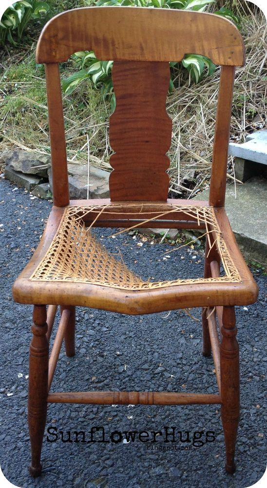 Upcycled Chair With Broken Cane Canes And Chairs