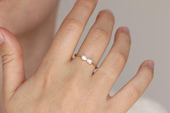 Engagement Ring Diamond Infinity Ring Alternative by artemer
