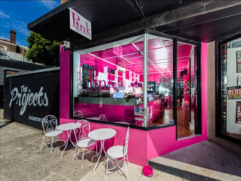 pink cafe in marrickville wanted to stand out from the croud with their cafe design restaurant ideascafe