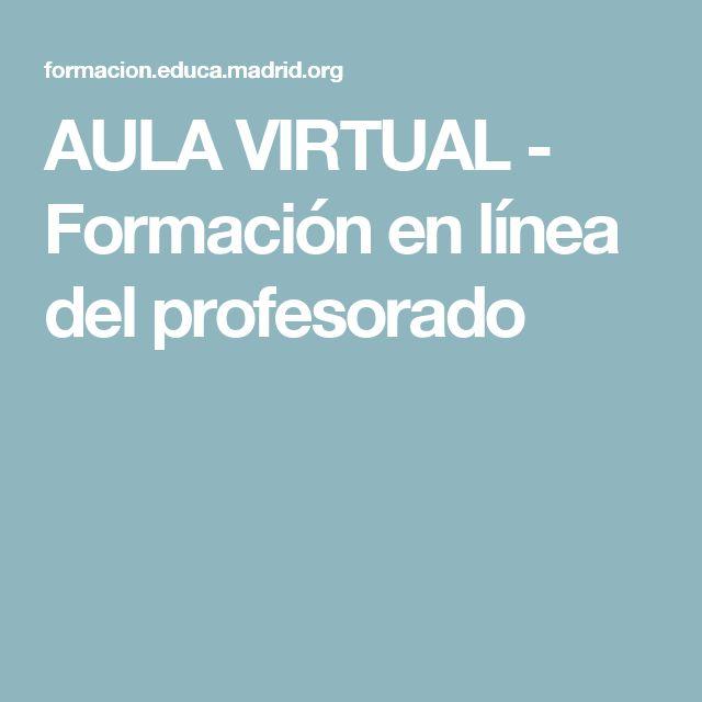 AULA VIRTUAL - Formación en línea del profesorado
