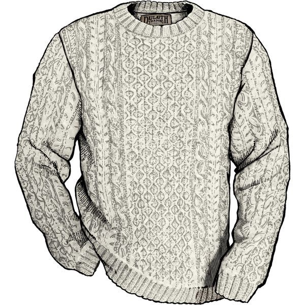 Mens Jumper Shetland Wool Cable Sweater