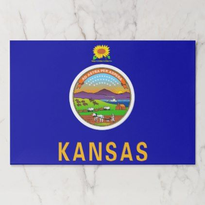 #Tearaway paper pad with Flag of Kansas USA - #trendy #gifts #template