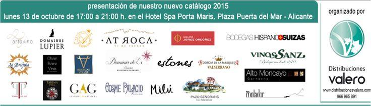 El lunes 13 de octubre, @valserrano asistirá a la presentación del nuevo catálogo 2015 de @disvalero en el Hotel Spa Porta Maris de #Alicante.