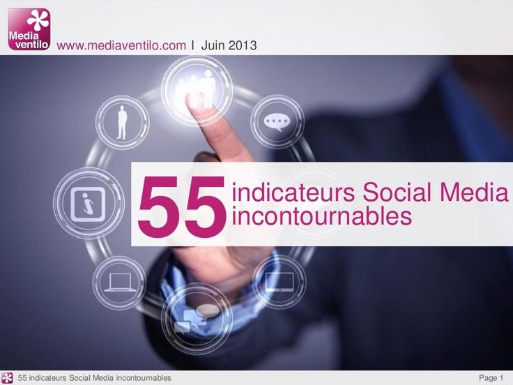 55-indicateurs-social-media-incontournables by Mediaventilo via Slideshare