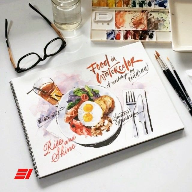 Hi all! I'm very pleased to announce my first watercolor workshop in Jakarta! . In this workshop, I would like to share with you my experience in WATERCOLOR medium especially in FOOD subject: basic theory, color study, drawing & coloring techniques etc, basically all there is know to make a mouth-watering food illustration. I'm also excited to receive a tremendous support from @artland_store so all the workshop participants can explore watercolor medium with the best watercolor  brand. Yes…