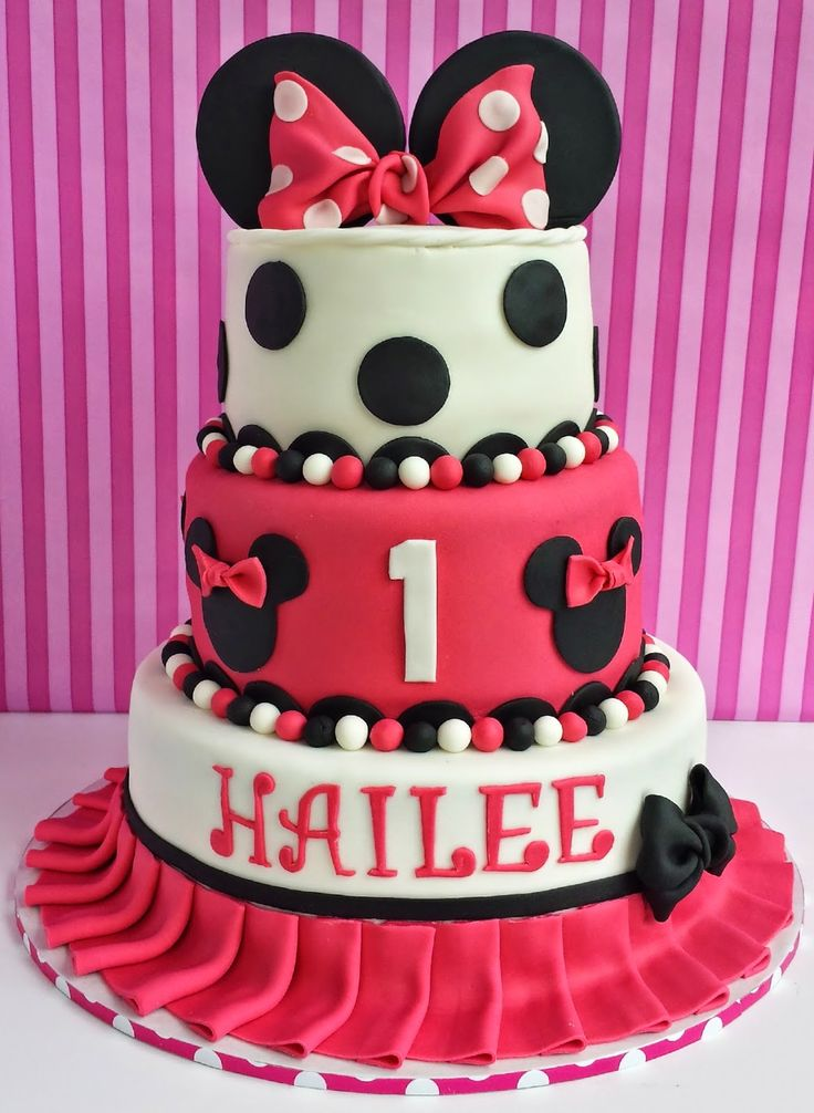 Cake Blog: Minnie Mouse Cake Tutorial