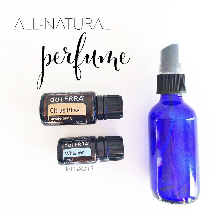 Here's my favorite all-natural perfume body spray.Smells amazing and there's no harsh chemicals in it either!In a 2oz. spray bottle combine 15 drops each Whisper and Citrus Bliss.Fill have way with distilled water.Shake and spray like you would perfume.  Here's why I use Whisper: • It's a scent that promotes calming emotions throughout the day. • Provides a warming, musky aroma. • Combines with individual chemistry to create a uniquely personal fragrance. • A perfect balance of…