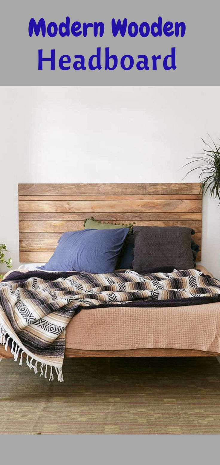 Natural mango wood headboard crafted exclusively for Urban Outfitters.#homedecor #anthropologie #headboard #modern #modernfurniture *aff*