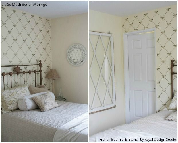 The Bee Motif Has Become A Stylish Decor Pattern And Royal Design Studio Quite Few Chic Stencil Designs To Choose From Weve Rounded Up Of Our