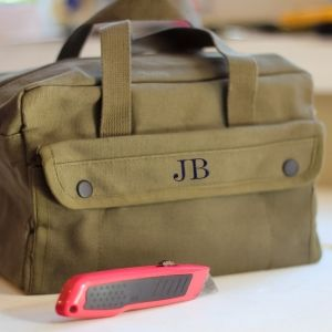 Personalized Mechanic's Canvas Tool Bag Military Style