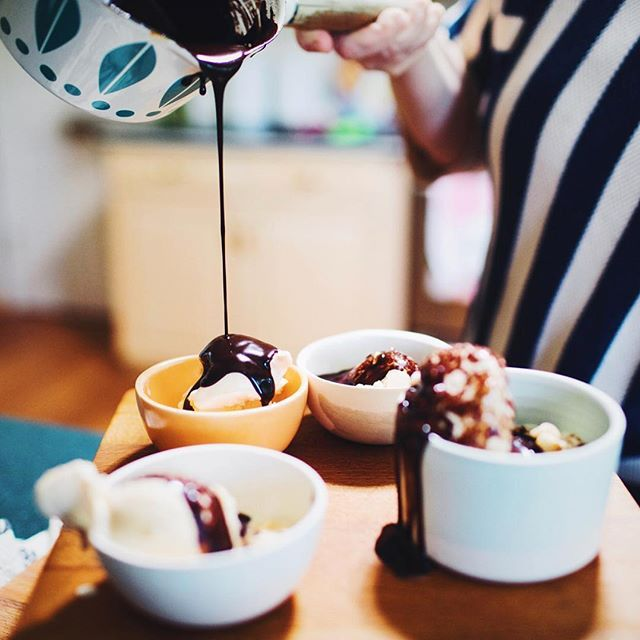 Need a quick and easy hot fudge recipe to step up your dessert game? Jeni shares her tried-and-true, four-ingredient formula in #WSJ. Pro-tip: Skip the kitchen detail and snag a jar of our Extra-Bitter Hot Fudge Sauce next time you're in a scoop shop. Or order online for the perfect stocking stuffer.  Photo via Maddie Mcgarvey
