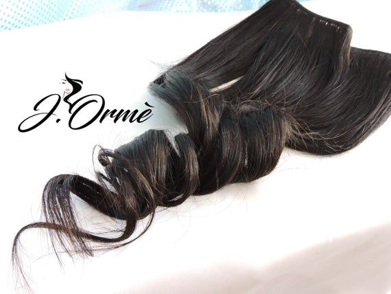 100% Remy Human Hair Extensions Natural Black Lush Full Thick Full Set Double Wefted Clip in Hair Ex