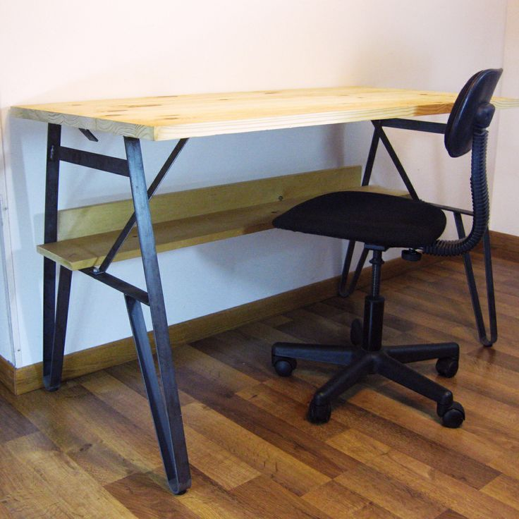 Rustic Living Wisconsonu0027s Desk Legs Turn A 24x48 Pine Panel Into A Desk